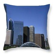 Chicago Skyline Throw Pillow by Rafael Macia