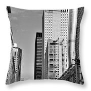Chicago State Street - That Great Street Throw Pillow