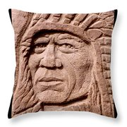 Chief-iron-tail Throw Pillow