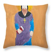 Child's Painting Of Jesus Christ Throw Pillow