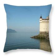 Chillon Castle Throw Pillow