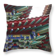 Chinese Architecture Throw Pillow