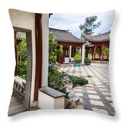 Chinese Courtyard Throw Pillow