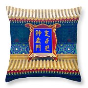 Chinese Sign Throw Pillow