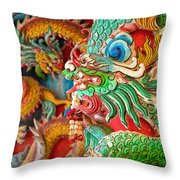 Chinese Temple Detail Throw Pillow