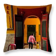 Chinese Temple In Ho Chi Minh Vietnam Throw Pillow