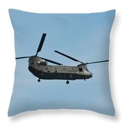 Chinook Hc2 Helicopter Throw Pillow