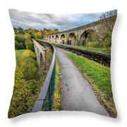 Chirk Aqueduct Throw Pillow