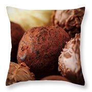 Chocolate Truffles Throw Pillow