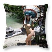 Chokoskee Island Fl. Indian 044 Throw Pillow