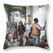 Cholera Epidemic, 1873 Throw Pillow
