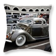 Chopped Ford Coupe Throw Pillow by Steve McKinzie