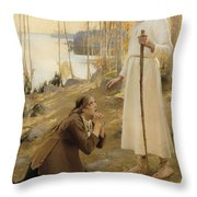 Christ And Mary Magdalene  Throw Pillow