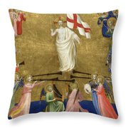 Christ Glorified In The Court Of Heaven Throw Pillow