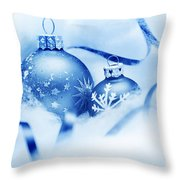 Christmas Balls Decoration Throw Pillow