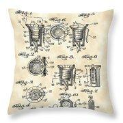 Christmas Bulb Socket Patent 1936 - Vintage Throw Pillow