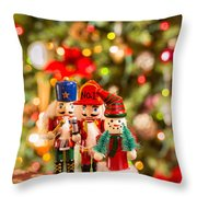 Christmas Figures Throw Pillow
