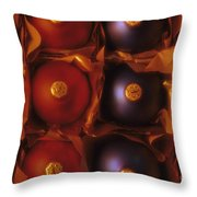 Christmas Ornaments In Box Throw Pillow