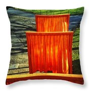 Christo - The Gates - Project For Central Park Throw Pillow