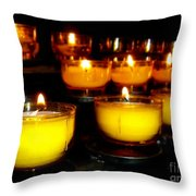 Church Candles Throw Pillow
