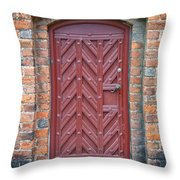 Church Door 02 Throw Pillow by Antony McAulay