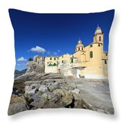 church in Camogli Throw Pillow