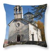 Church In Cetinje Montenegro Throw Pillow