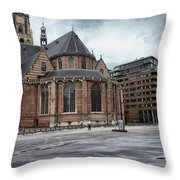 Church Of St Lawrence In Rotterdam Throw Pillow