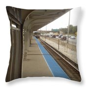 Cicero Cta Blue Line Throw Pillow