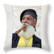 Cigar Man Throw Pillow