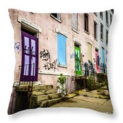 Cincinnati Glencoe-auburn Row Houses Picture Throw Pillow