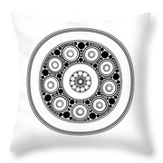 Circle Motif 138 Throw Pillow