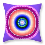 Circle Motif 224 Throw Pillow
