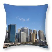 Circular Quay In Central Sydney Australia Throw Pillow