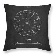 Circular Saw Patent Drawing From 1899 Throw Pillow