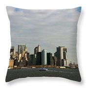 City At The Waterfront, New York City Throw Pillow