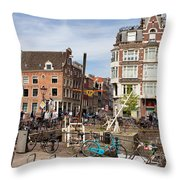City Of Amsterdam In Netherlands Throw Pillow
