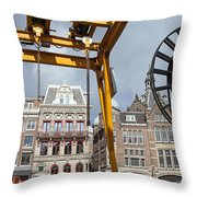 City Of Amsterdam Urban Scenery Throw Pillow
