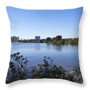 City Of Melbourne On The Intracoastal Waterway In Central Florid Throw Pillow