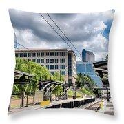 City Streets Of Charlotte North Carolina Throw Pillow