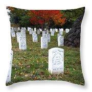 Civil War Dead At Arlington Throw Pillow