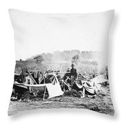 Civil War: Wounded, 1862 Throw Pillow