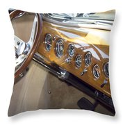 Classic Car Interior Throw Pillow