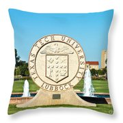 Classical Image Of The Texas Tech University Seal  Throw Pillow