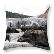 Clayton Lake Spillway Throw Pillow