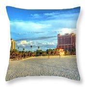Clearwater Beach Throw Pillow