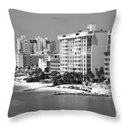 Clearwater Beach Florida Throw Pillow