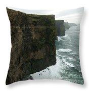 Cliffs Of Moher 1 Throw Pillow