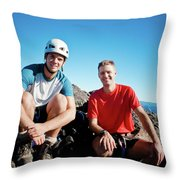 Climbing Foley Peak Throw Pillow