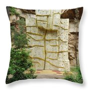 Climbing Wall On A Park Throw Pillow